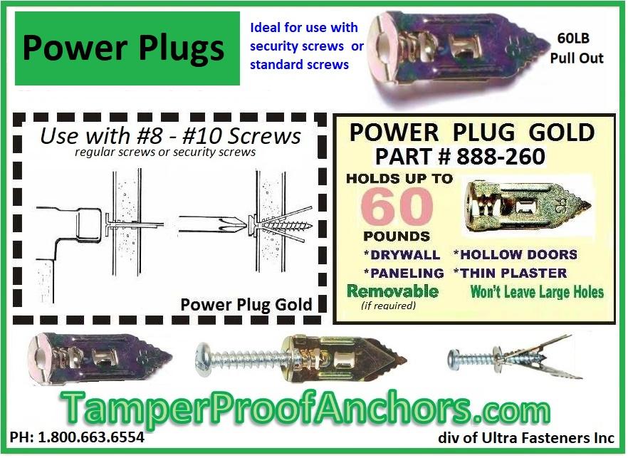 Power Plug Wall Anchors