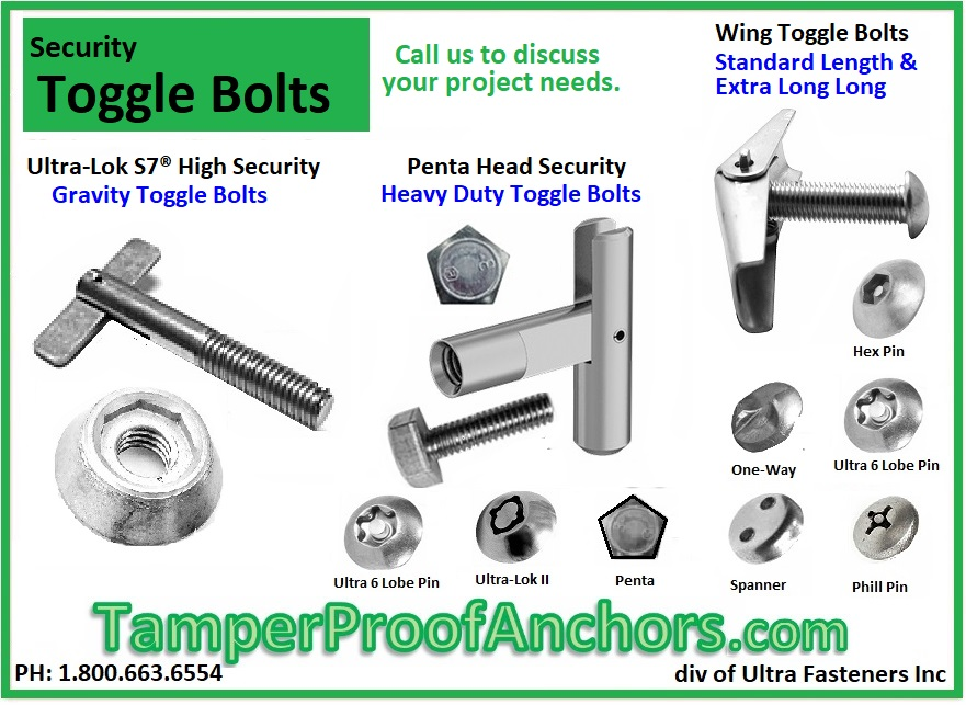 Security Toggle Bolts