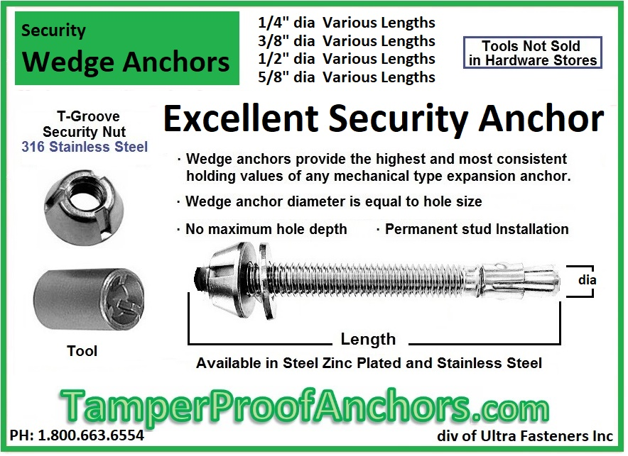 Security Wedge Anchors