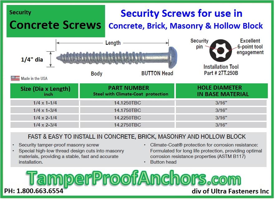 Concrete Screws www.lpfast.com