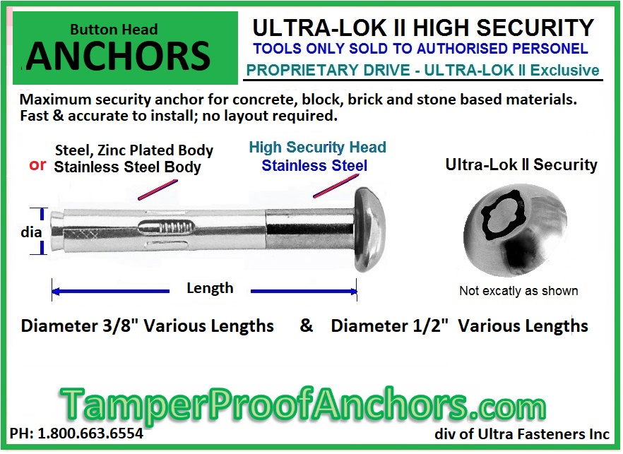 Buttonhead Security Anchors
